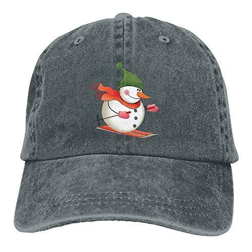 Secado Rápido Dad Hat,Cómoda Sombrero De Deporte,Transpirable Ocio Sombrero,Esquí Muñeco De Nieve Navidad Unisex Dibujos Animados Gorra De Béisbol Ajustable Sombrero De Papá Blanco