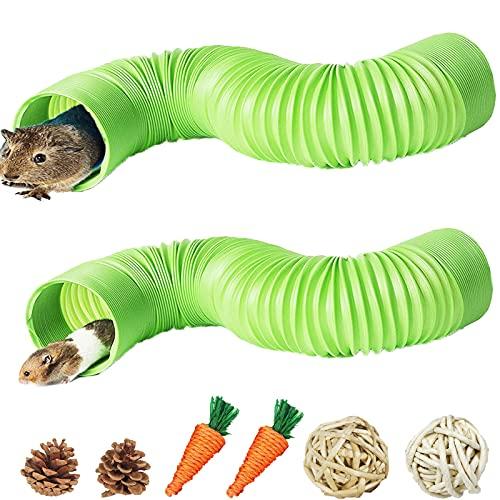 Rohre für den Tunnel Hamster Kleintier Spielröhre Ausziehbar Übungsrohr Haustier-Spielbälle Kauspielzeug Faltbar Material Erweiterungsrohr für Meerschweinchen Chinchillas Ratten Eichhörnchen