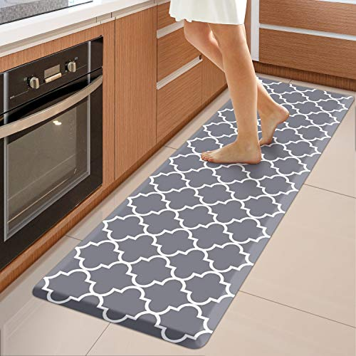WISELIFE Kitchen Mat Cushioned Anti-Fatigue Kitchen Rug,17.3
