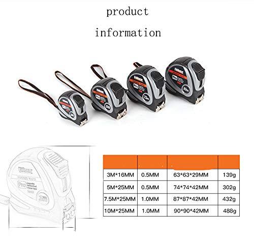 Berrd Herramienta de medición Nivel de Referencia Cinta métrica de Acero 3-10 Metros Cinta métrica Embalaje de PVC Calibre Suave medidor Regla Cinta métrica - 3M