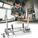 HUKOER Motosierra Molino de 24 Pulgadas portátil Chain Saw Mill Aluminio Acero Soldadura Mig serrería de 14'-24'...