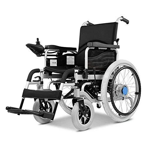 SISHUINIANHUA Elektrorollstuhl, Hochleistungsrollstuhl, zusammenklappbares Leichtgewicht, Elektroantrieb oder manueller Rollstuhl, Gewicht 100 Kg (20AH Lithiumbatterie)