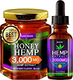 Honey Hemp. Pure Honey 3000mg Hemp Extract. 9.6 oz Glass Jar. Plus Extra 2000mg Hemp Oil Drops. Promotes Pain Relief,Anxiety Reduce & Weight Management. Mint Flavor. THC Free