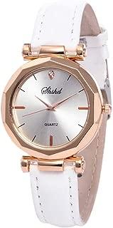 WEUIE Women Artificial Leather Strap Casual Watch Luxury Crystal Watches Analog Quartz Womens Wristwatch