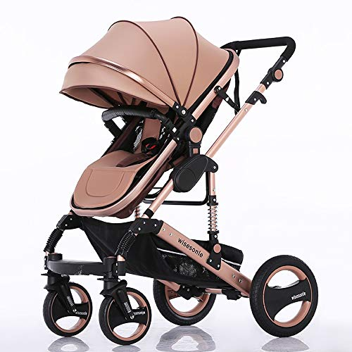 Best Deals! Qivor Baby Carriage Baby Stroller High Landscape Can Sit and Fold Two-Way Push Stroller ...