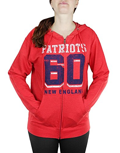 Junk Food New England Patriots NFL Womens Established 1960' Full Zip French Terry Hood.