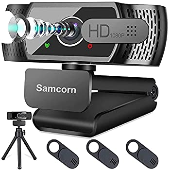 Webcam with Microphone for Desktop,1080P HD USB Webcam Live Streaming Laptop PC Computer Web Camera for Video Calling Conferencing Recording Gaming 3D Noise Reduction