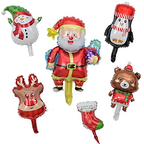ENHONGDZ 10 unids/Mini Globos de Fiesta de Navidad Santa Claus Navidad Muñeco de Nieve Árboles para Año Nuevo Decoración Niños (Color : A, Size : 1)