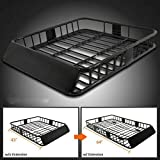 labwork 64 inch Universal Roof Rack w/Extension Cargo SUV Top Luggage Carrier Basket Holder