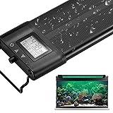Koval アクアリウムライト 30/45/60/75/90/120CM対応 7色LED 昼光と月光モード LCDディスプレイ 水槽ライト 調光 タイマー付き 水草育成 観賞魚 熱帯魚 水槽照明LEDライト (タイマー付き) (45-65)