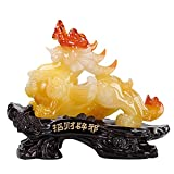 Familia jardín decoración ornamento estatua escultura creativa extracto pixiu estatua feng shui decoración, artesanías de resina pixiu pi yao afortunado ruishou atray riqueza Decoración de buena suer