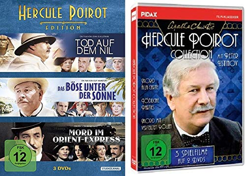 Agatha Christie: Hercule Poirot Collection/Edition - 6 spannende Spielfilme im Set - Deutsche Originalware [5 DVDs]