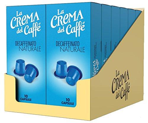 La Crema del Caffè - Decaffeinato Naturale (12 Astucci da 10 Capsule, Totale 120 Capsule), Compatibili Nespresso