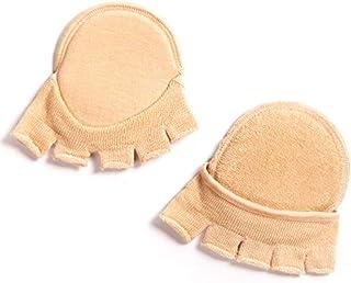 Calcetines con punta abierta de algodón de esponja transpirable para yoga, mujer y niña