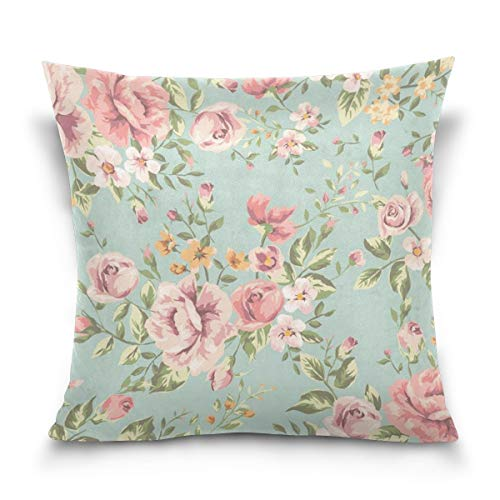 45x45cm Funda Throw Pillow Case Almohada Cojín Shabby Chic Rosa Floral Fundas colchón Cojines Decorativa Cuadrado sofá