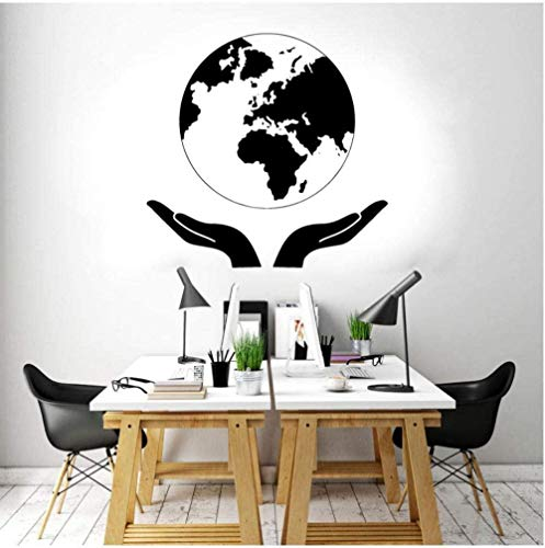 Muursticker Earth Nature Globe World Map Start woonkamer kantoor studie Design 58 x 57 cm