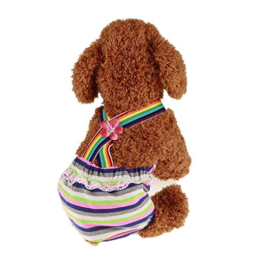 Etophigh Hond Sanitaire Broek, Fysiologische Briefs Menstrual Suspender Nappy Luier Ondergoed Broek Voor Vrouwelijke Huisdier Hond Fysiologische Broek, S, C