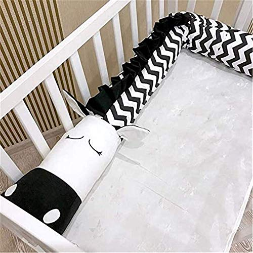 Cot Bumper Baby Bed Pillow Baby cot Bumper Bed Snake Bumper Edge Protection Cotton For beds and sofas