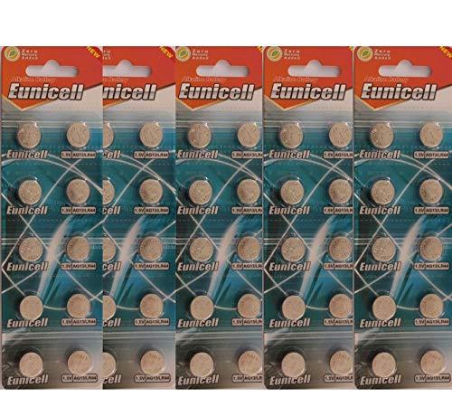 50 x AG13 Alkaline button cell batteries -A76 L1154 SR44 G13 357 PX76A V13GA
