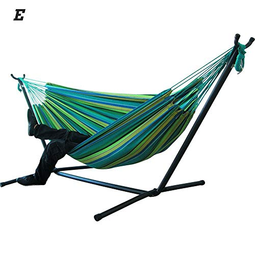 genialkiki Large Hammock Hanging Chair for Double People, Large Hammock Bed Double Hammock Swing Bed for Garden Courtyard Indoor, Not Including Steel Stand