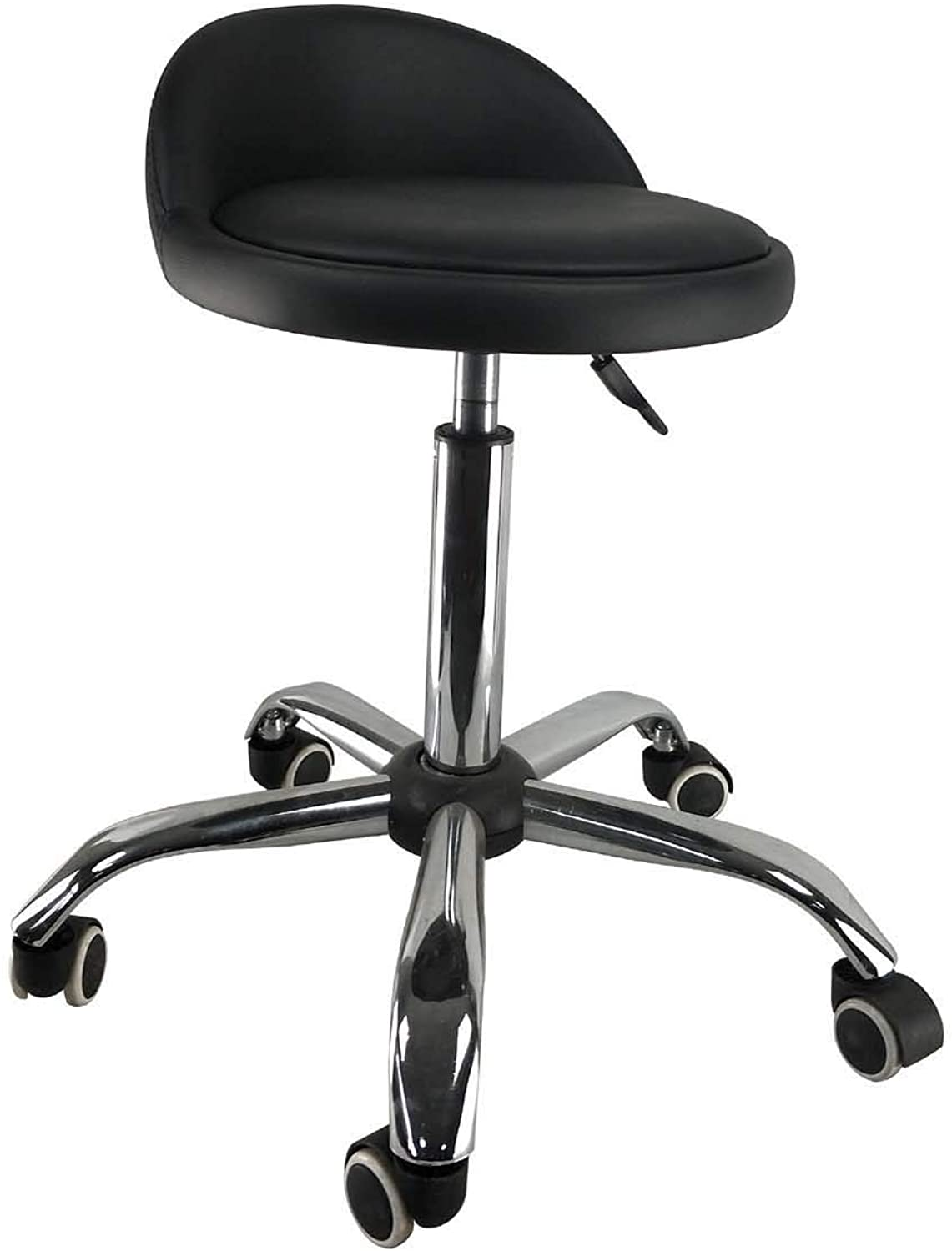 Adjustable Hydraulic Rolling Swivel Salon Stool Chair Tattoo Massage Facial Spa Stool Chair with Back Rest