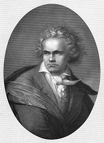 Preisvergleich Produktbild The Poster Corp Ludwig Van Beethoven / N(1770-1827). German Composer. Steel Engraving 19Th Century. Kunstdruck (60, 96 x 91, 44 cm)