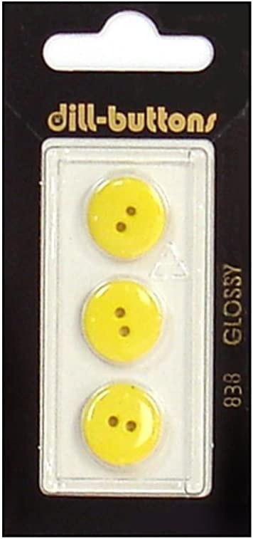 Dill Genuine Cheap SALE Start Free Shipping Buttons 14mm 3pc Yellow Hole 2