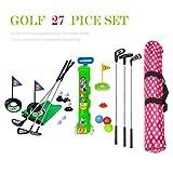 SOWOFA 27-TLG Ensemble de Jouets de Golf avec Chariot Portable pour Enfant, Wasserdichter Rucksack