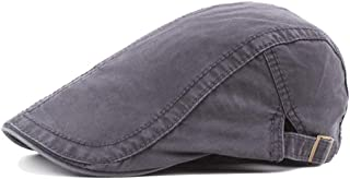 Fashion Hats Cotton Beret Cap Men's Women's Retro Casual Summer Winter Golf Newspaper Driving Tax Flat Cap Elegant Hats (Color : Gray, Size : 56-58CM)