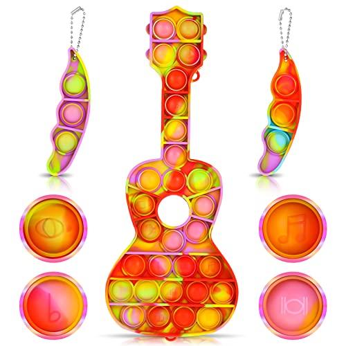 Skisneostype 3 Stück Push Pop Pop Bubble Poppet Fidget Toy Set, Violine Popet Spielzeug Figetttoys, Sensory Squeeze Toys, Antistress Plopper Spielzeug für Kinder und Erwachsene mit ADHS oder Autismus