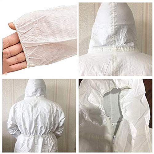 Disposable Heavy Duty Painters Coveralls, Safety Protective Painting Protection Coveralls with Zipper Front, Elastic Wrist and Ankle Cuffs fits XX Large