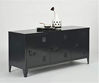 Armoire de rangement en acier très résistant pour le bureau, la télévision, 2 niveaux avec 3 portes, pour bureau, chambre ...