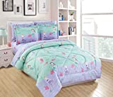 Linen Plus Twin Size Comforter Set Girls/Teens Mermaids Starfishes Jellyfishes Lavender Pink Aqua Princess of The Sea New