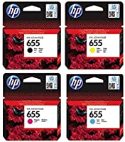 HP 655 Black Original Ink Cartridge CZ109+110+111+112