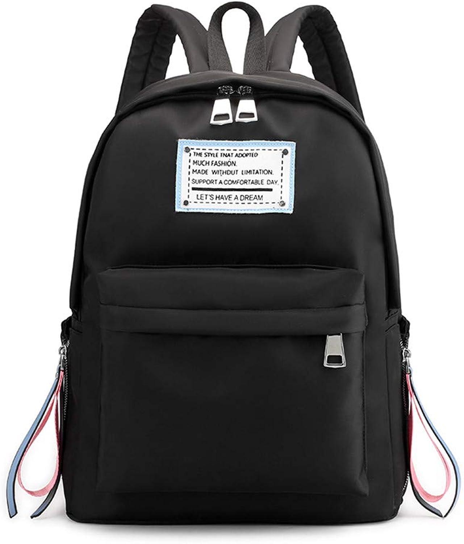 Ladies Backpack Student Campus High School Bag Women's Backpack, Black