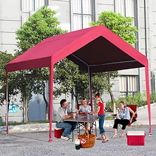 Zhyaj 3X3m Pavillon Mit Metallrahmen - 100% Wasserdichtes Zeltzelt Für Gartenparty Hochzeits-Grillplatz - Pavillon Für Alle Jahreszeiten,Rot,3x3M
