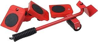HRB Meubelroller rollenset 5-delig met belastingheffer / 150 kg draagkracht per rubberen rolonderzetter / ideaal voor het ...