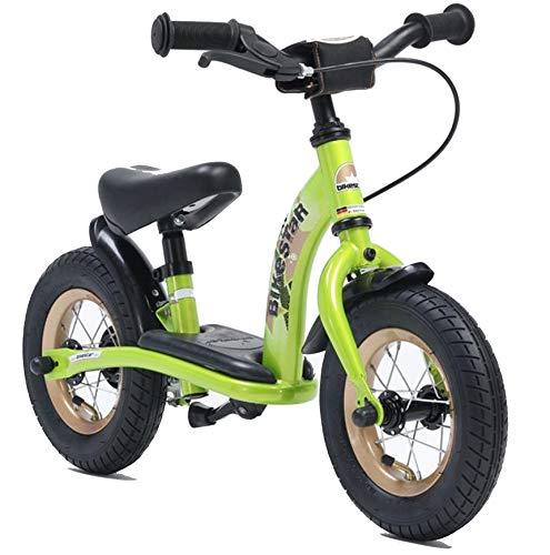 Bikestar Bicicletta senza pedali 2-3 anni per bambino et bambina ★ Bici senza pedali bambini con freno 10 pollici classico ★ Verde