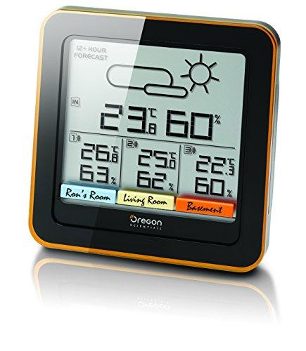 Oregon Scientific Wetterstation Funk mit Außensensor 4-Zonen Thermometer Hygrometer mit Schimmelwarner und 12 Stunden Wettervorhersage
