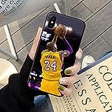 XMYP Carcasa para iPhone 7/8, diseño elegante, transparente, con diseño de Kobe Lakers, carcasa fina y suave, antiarañazos, a prueba de golpes para iPhone 7/8, 7/8 Plus T- 7/8 Plus