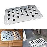 Universal Car Truck Floor Mat Carpet Heel Pad Plate Foot Pedal Rest Footrest Aluminum Alloy w/Screw