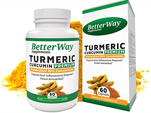 Turmeric Curcumin Supplement with Bioperine - Tumeric with Black Pepper Capsules - Organic Supplements with Curcumin Extract 95% Standardized - Anti-inflammatory - Antioxidant - Joint Pain Relief