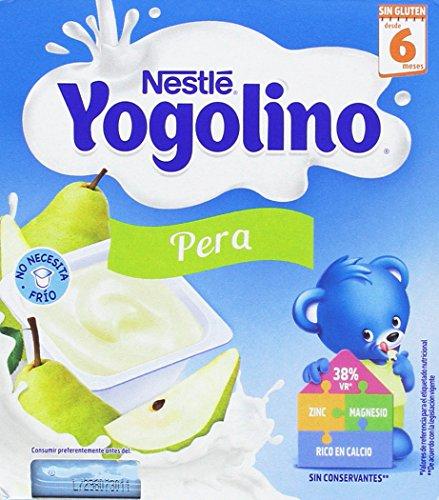 Nestlé Iogolino Alimento infantil, leche fermentada con puré de pera - Paquete de 6 x 4 x 100 gr - Total: 2400 gr