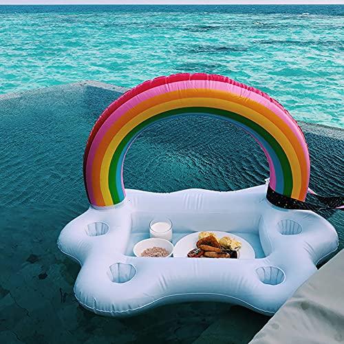 Luftmatratze Poolbar Pool Getränkehalter 2in1-Getränke- und Snackhalter Luftmatratzen Schwimmender Aufblasbar Coasters für Swimmingbad Party und Wasser-Spaß (A)