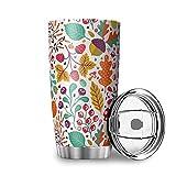 Otoño otoño durable viaje taza de agua con tapa de acero inoxidable vaso moderno para el hogar blanco 20 oz