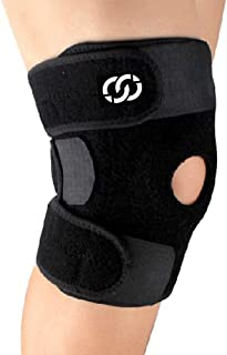 CompressionGear Patella Stabilizing Knee Brace with Side Stabilizers for Arthritis, Best Joint Pain Relief, Torn Meniscus Support, Injury Recovery & Prevention, Adjustable Straps Breathable Neoprene
