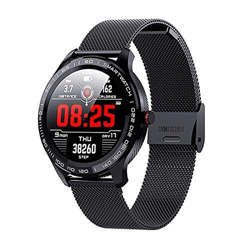L9 Smart Watch, IP68 Impermeabile Ladies E Ubicazione Cardiaca di Monitoraggio della Frequenza Cardiaca da Uomo Call Reminder Smart Watch per Android iOS,C