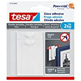 tesa 77776-00001-00 77776-00001-00-Smart Mounting System Removíbles SMS Clavo Adhesivo hasta 2Kg Pared Pintada, Not_applicable, Set de 2 Piezas