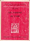 Les passions de l'âme - Librairie philosophique J. Vrin