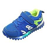 Zapatillas Niño con Luces Led Niña Zapatos de Deportivas Casaul Zapatos Talla 21-19 (21 EU, Azul)